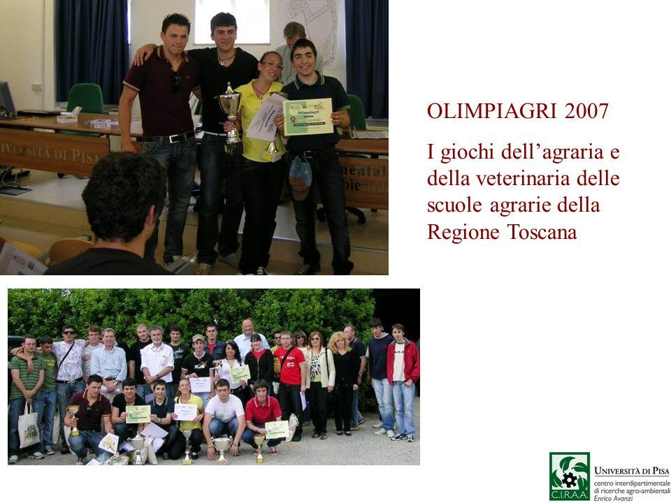 OLIMPIAGRI 2007I giochi dell'agraria e della veterinaria delle scuole agrarie della Regione Toscana.