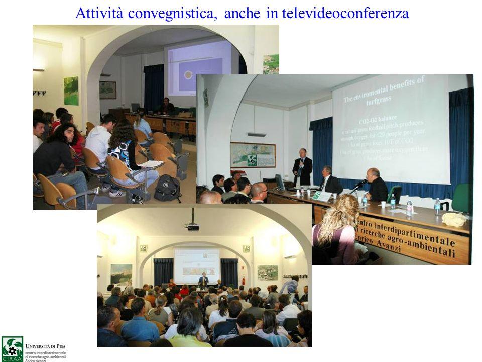 Attività convegnistica, anche in televideoconferenza