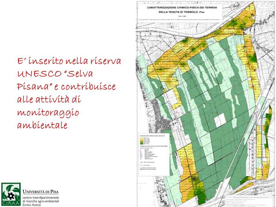 E' inserito nella riserva UNESCO Selva Pisana e contribuisce alle attività di monitoraggio ambientale