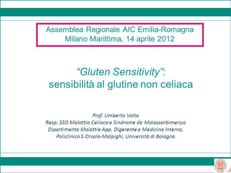 Gluten Sensitivity : sensibilità al glutine non celiaca
