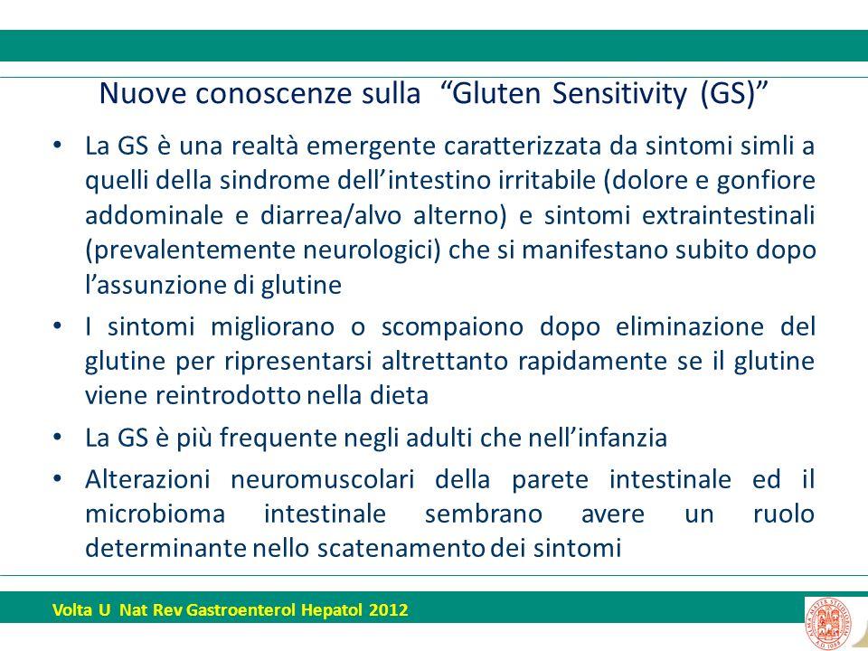 Nuove conoscenze sulla Gluten Sensitivity (GS)