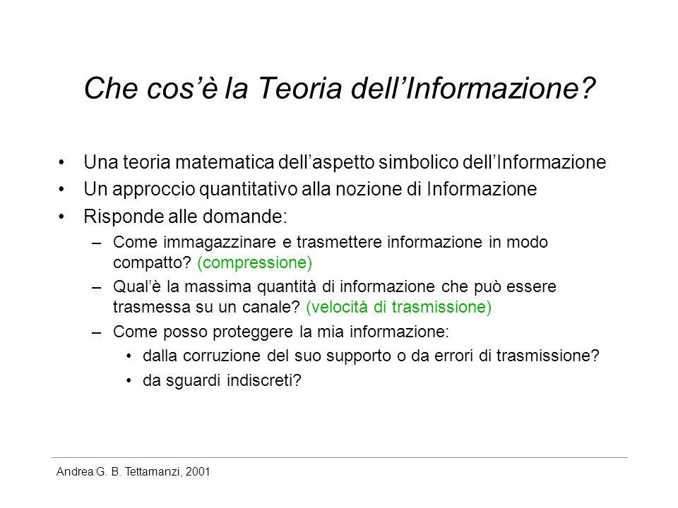 Che cos'è la Teoria dell'Informazione