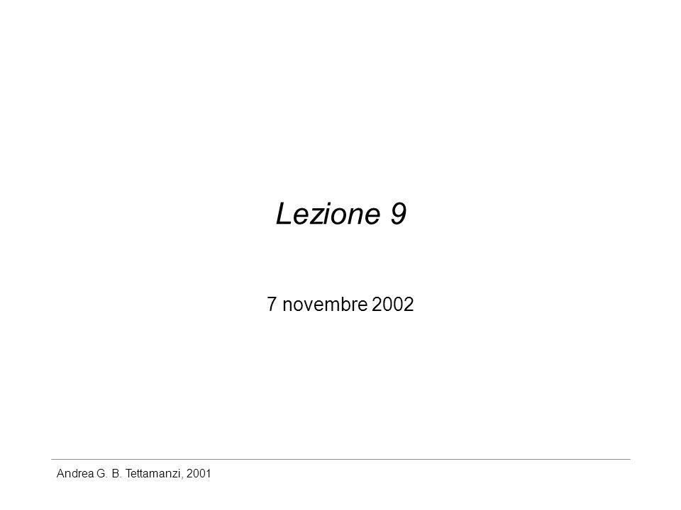 Lezione 9 7 novembre 2002