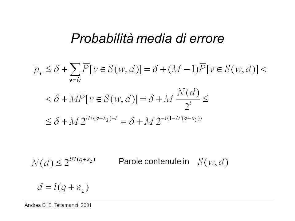 Probabilità media di errore
