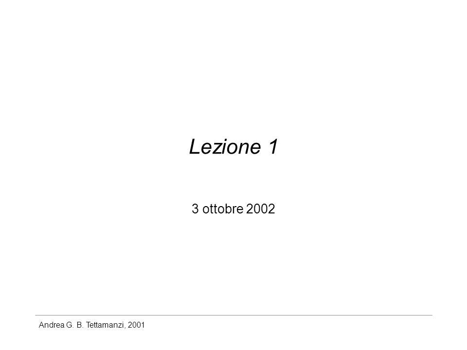 Lezione 1 3 ottobre 2002
