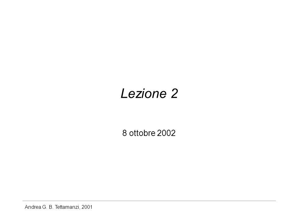 Lezione 2 8 ottobre 2002