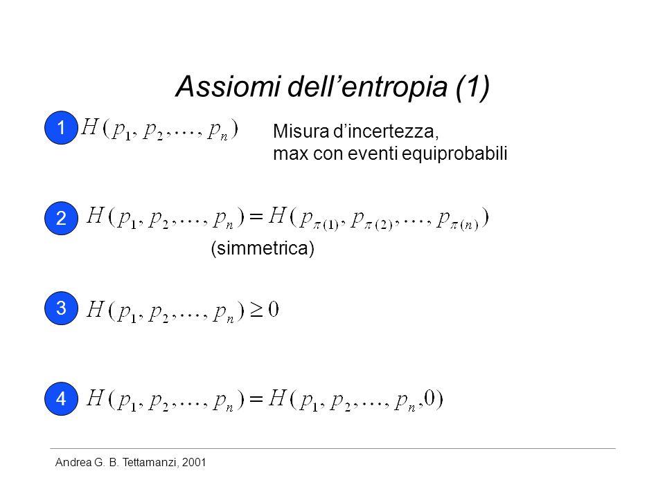Assiomi dell'entropia (1)