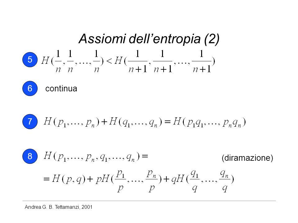 Assiomi dell'entropia (2)