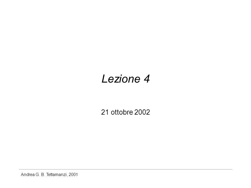Lezione 4 21 ottobre 2002