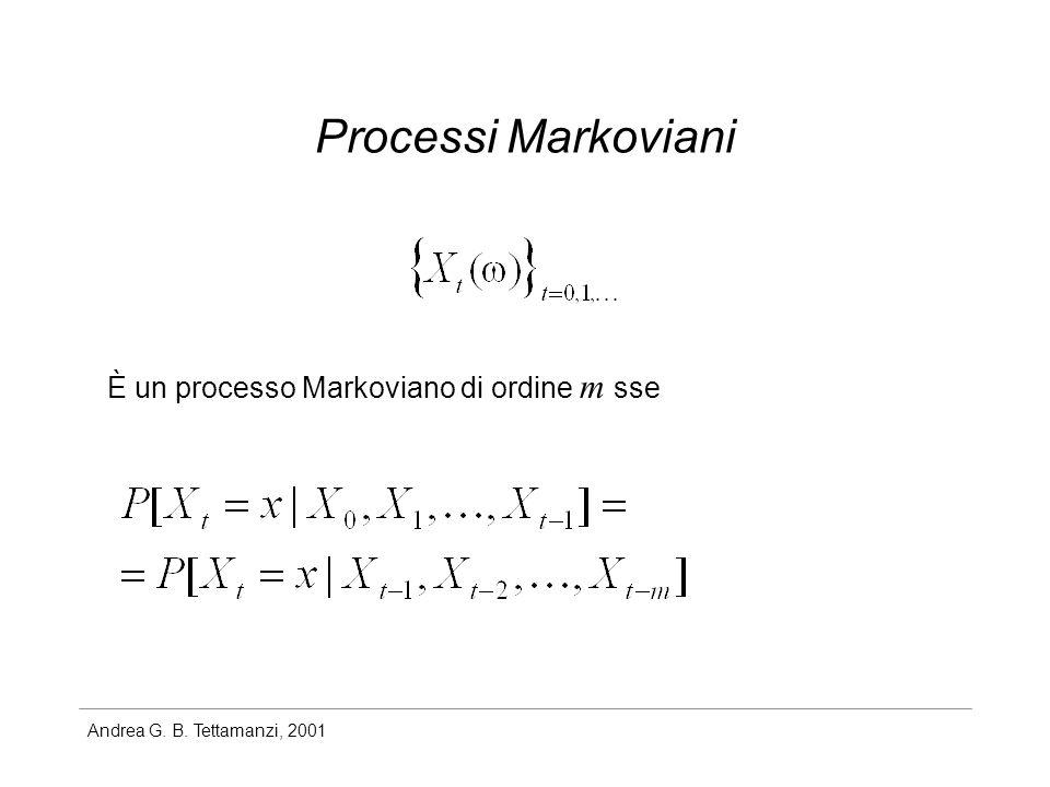 Processi Markoviani È un processo Markoviano di ordine m sse