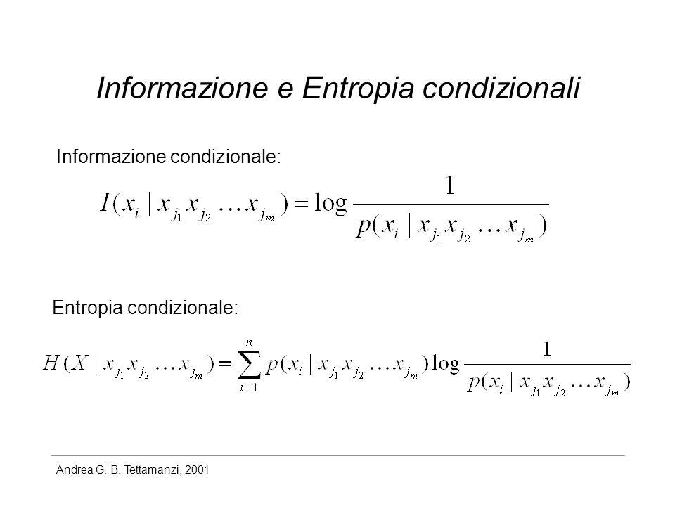 Informazione e Entropia condizionali