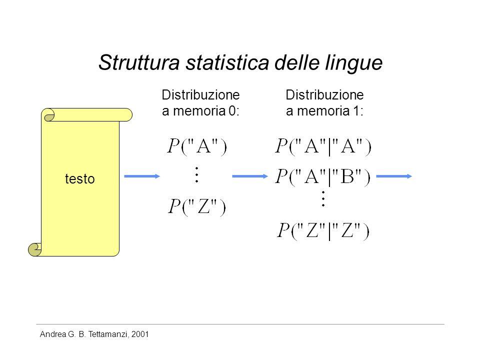 Struttura statistica delle lingue