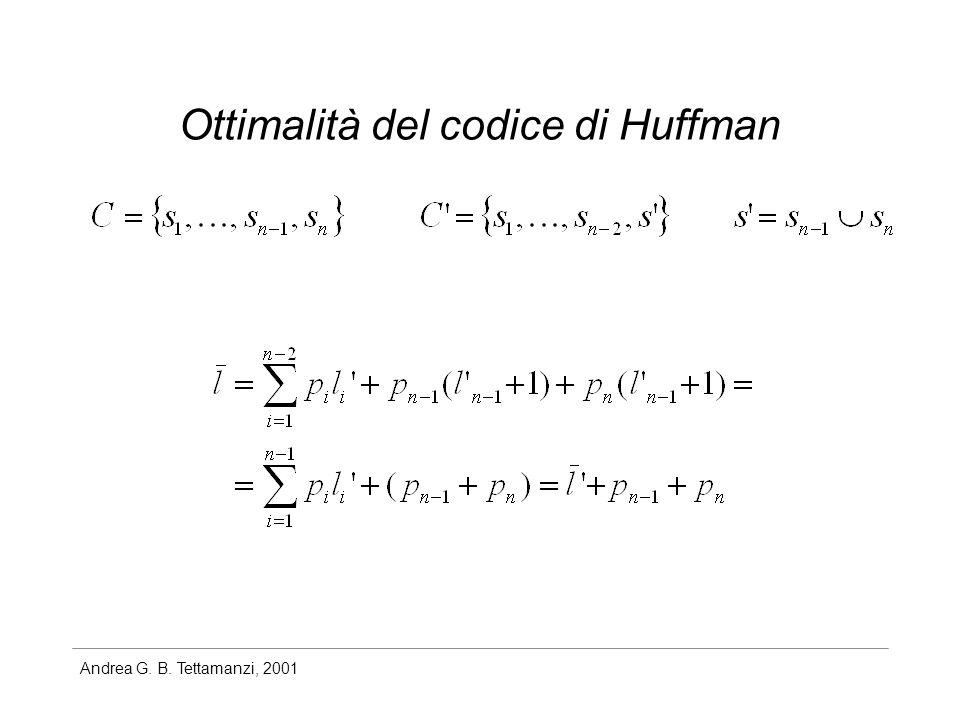Ottimalità del codice di Huffman