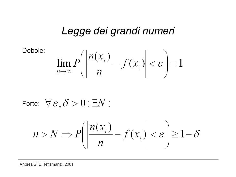 Legge dei grandi numeri