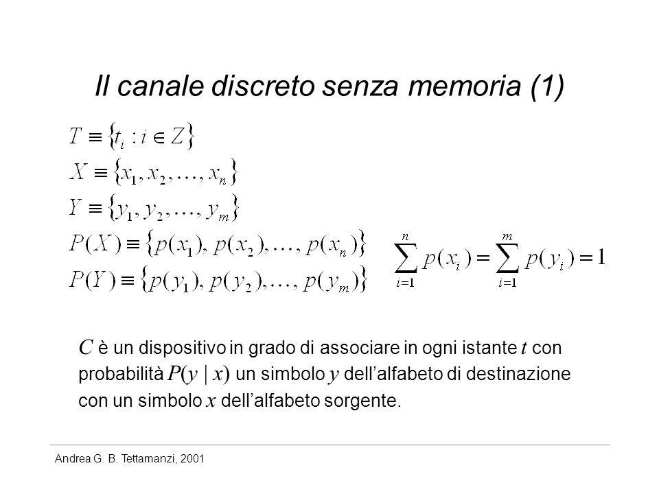Il canale discreto senza memoria (1)