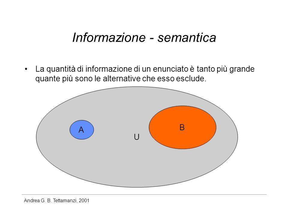 Informazione - semantica