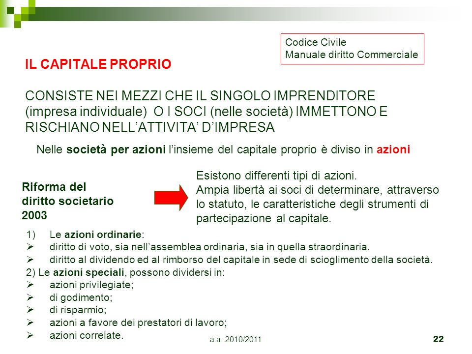 Codice CivileManuale diritto Commerciale.