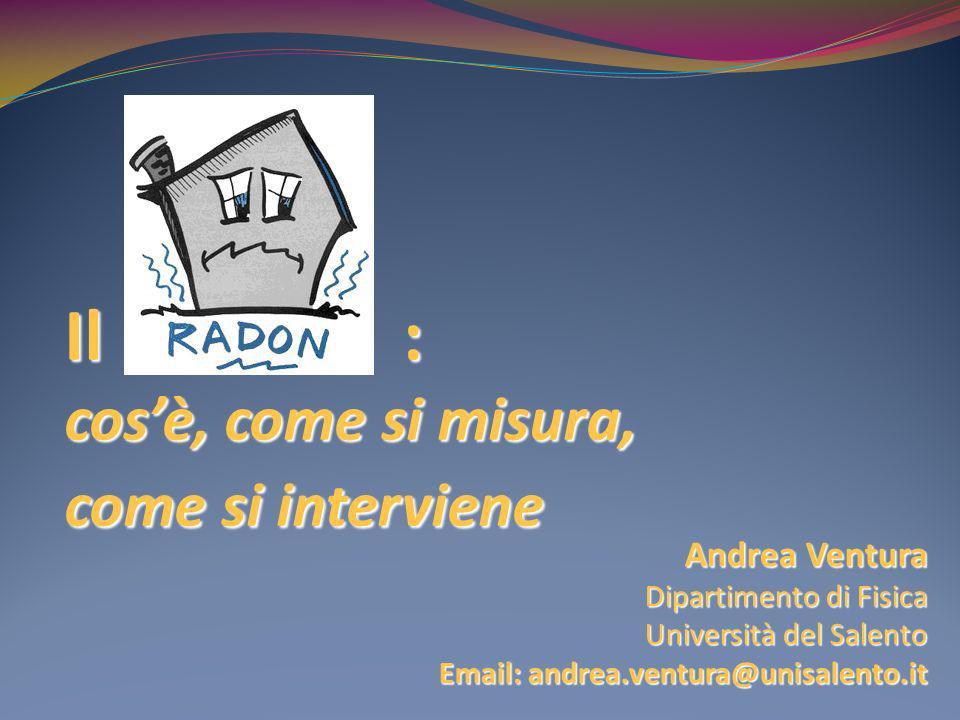 Il Radon : cos'è, come si misura, come si interviene