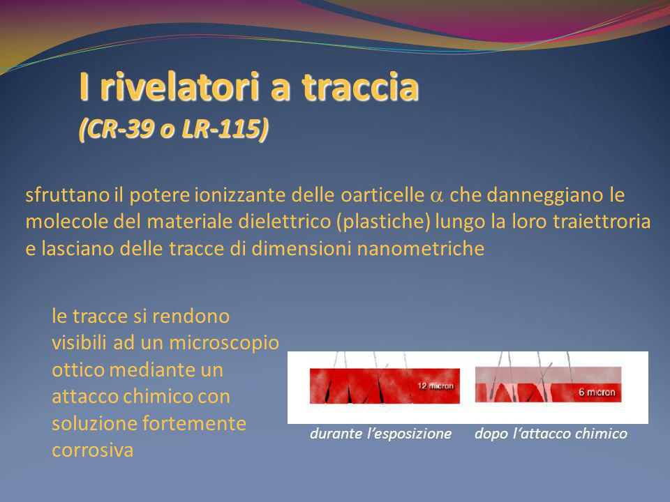 I rivelatori a traccia (CR-39 o LR-115)