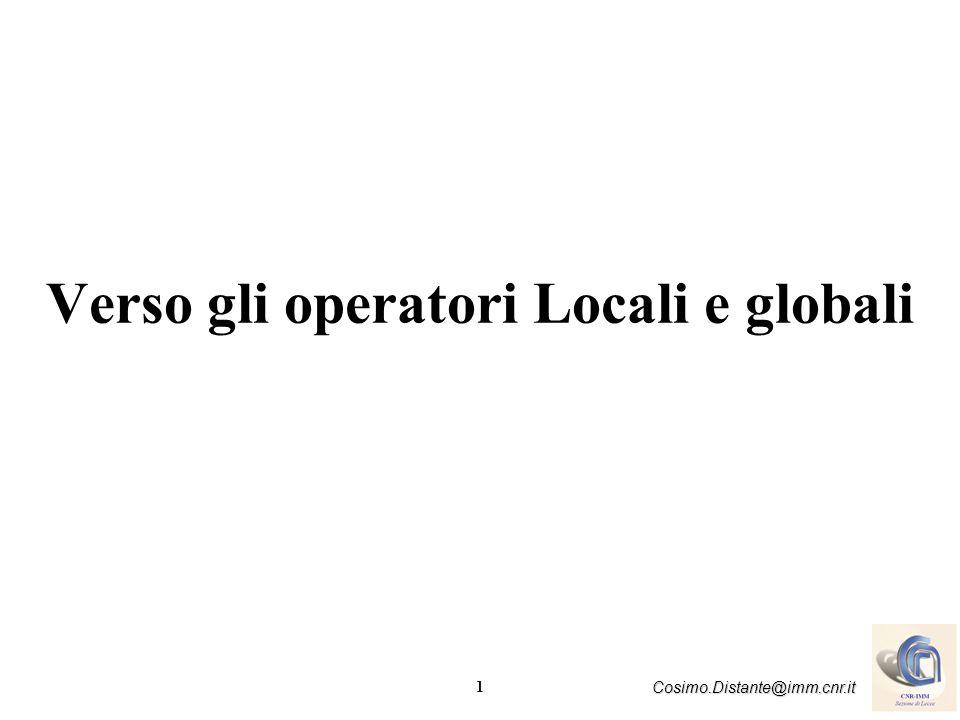 Verso gli operatori Locali e globali