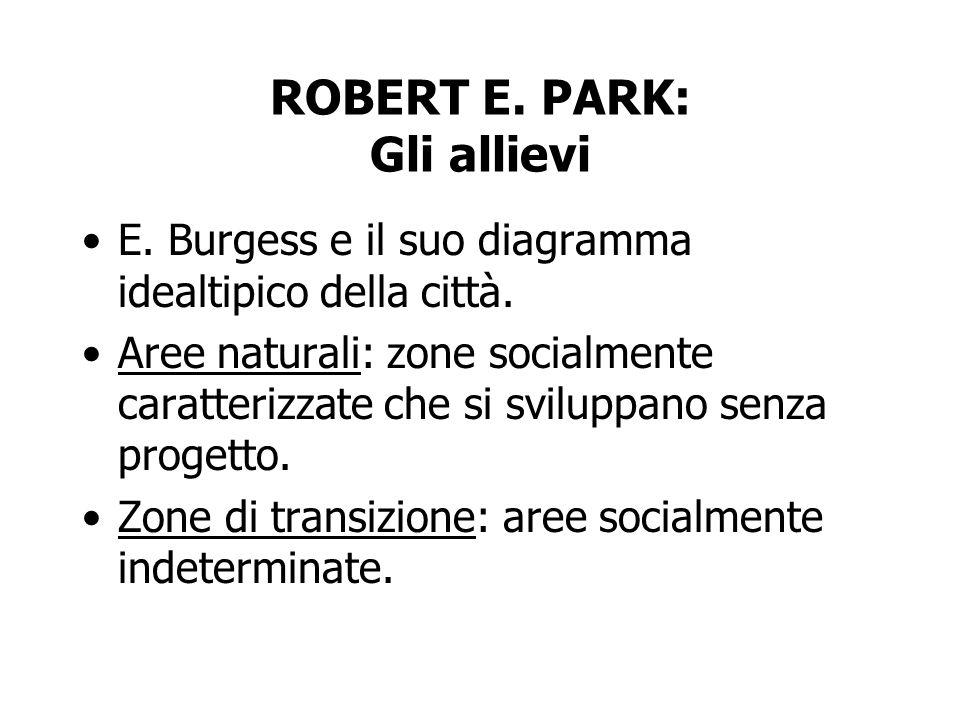 ROBERT E. PARK: Gli allievi