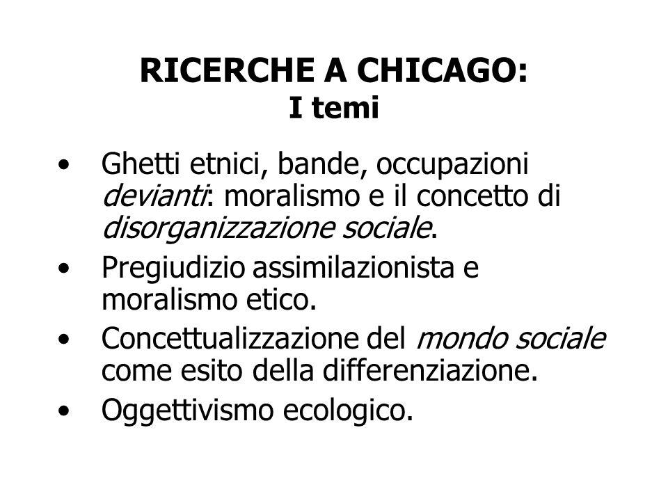 RICERCHE A CHICAGO: I temi