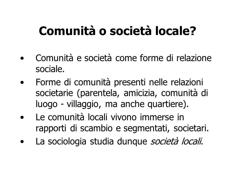 Comunità o società locale