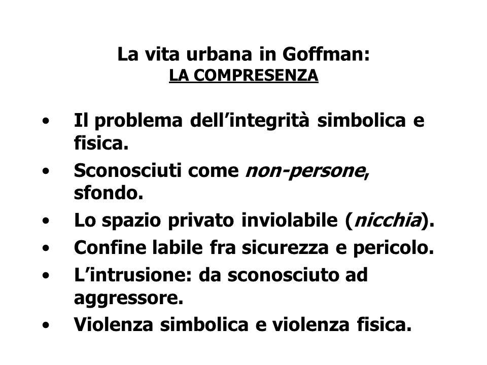 La vita urbana in Goffman: LA COMPRESENZA