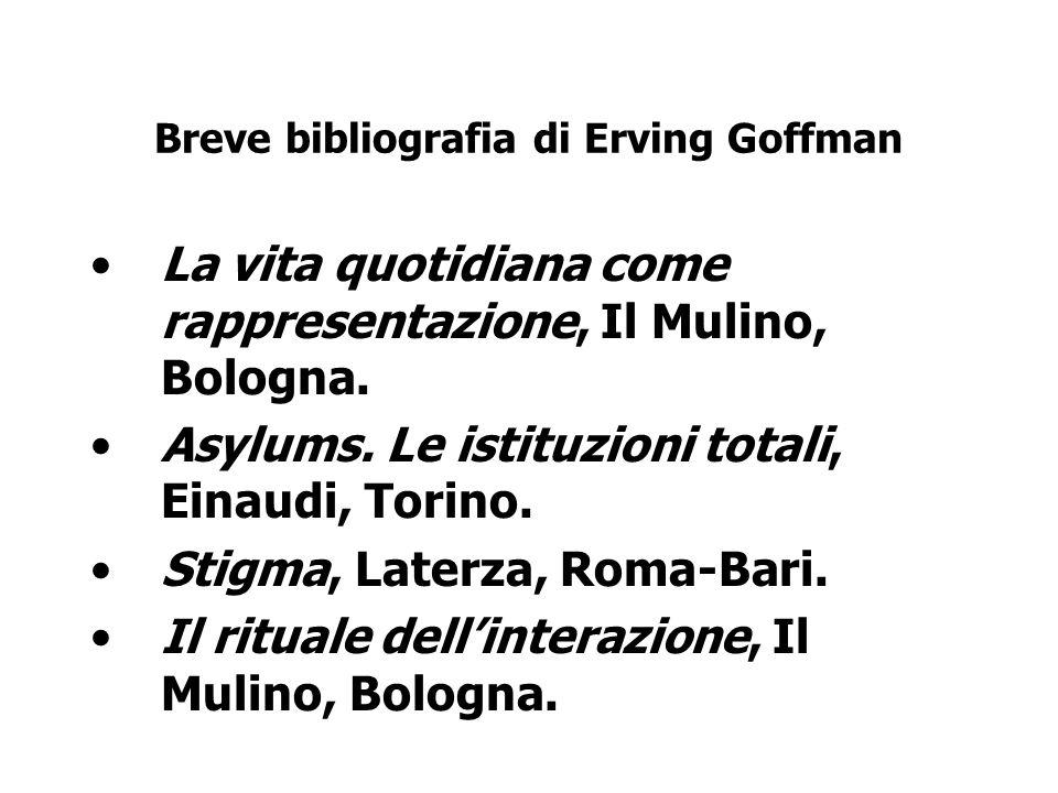 Breve bibliografia di Erving Goffman