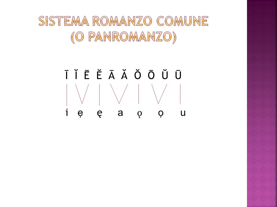SISTEMA ROMANZO COMUNE (o panromanzo)