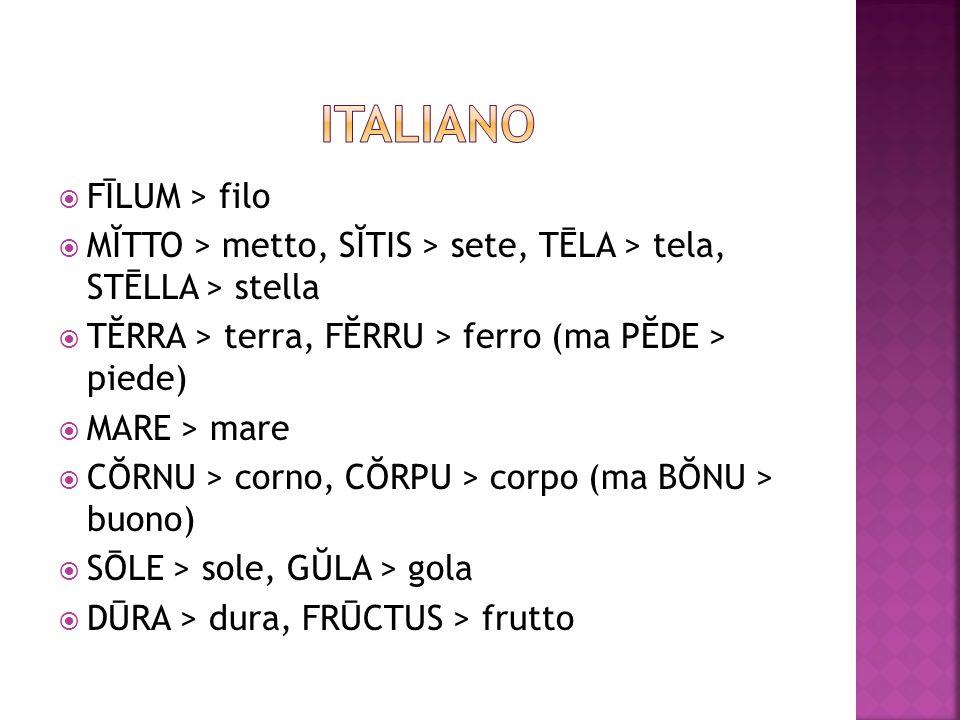 ITALIANO FĪLUM > filo