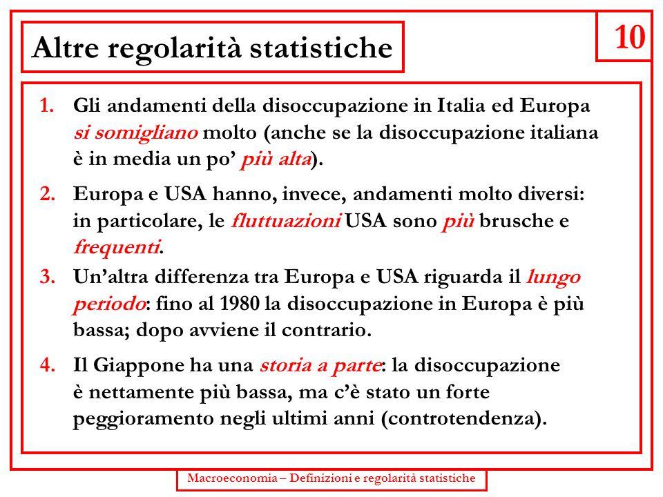 Altre regolarità statistiche