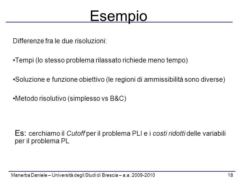 Manerba Daniele – Università degli Studi di Brescia – a.a. 2009-2010