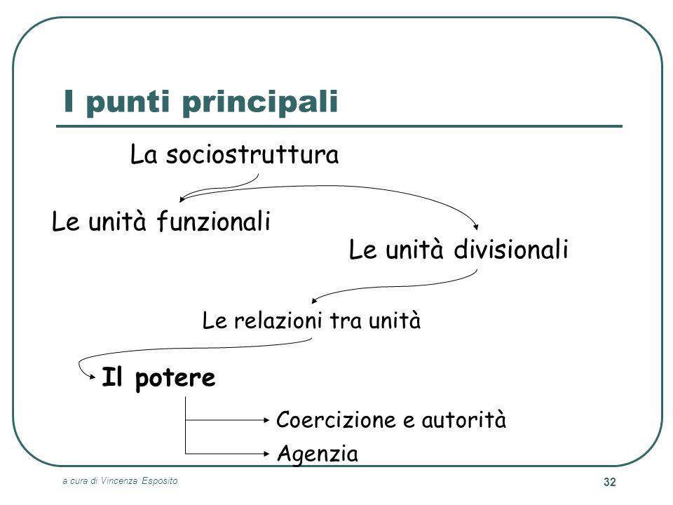 I punti principali La sociostruttura Le unità funzionali