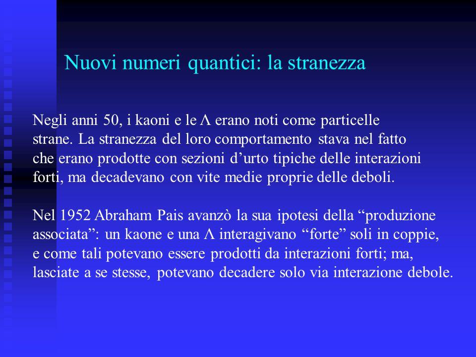 Nuovi numeri quantici: la stranezza