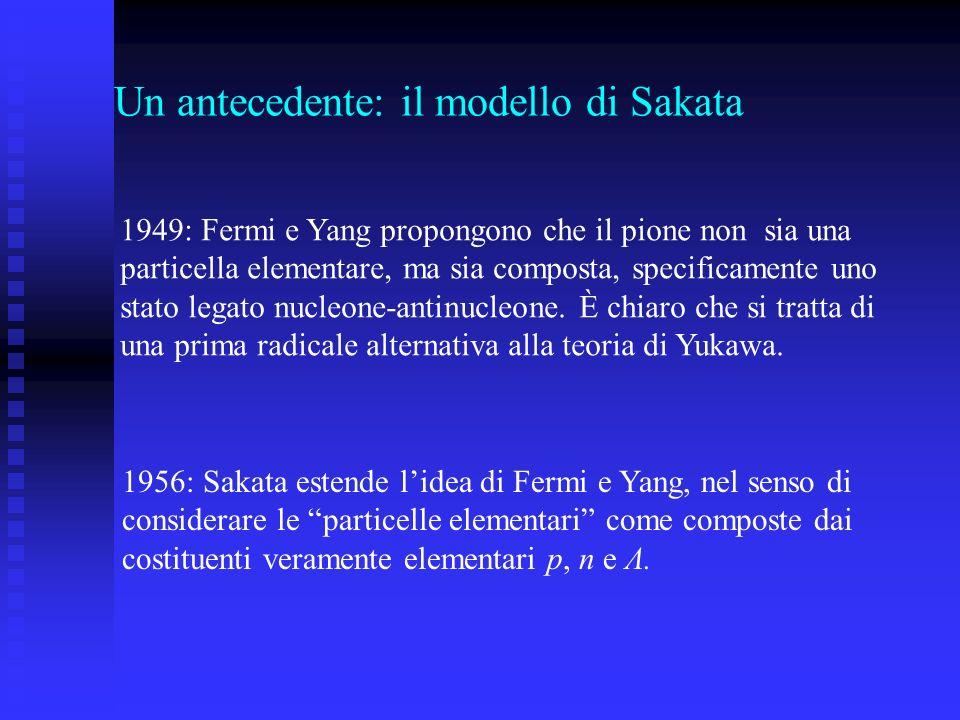Un antecedente: il modello di Sakata
