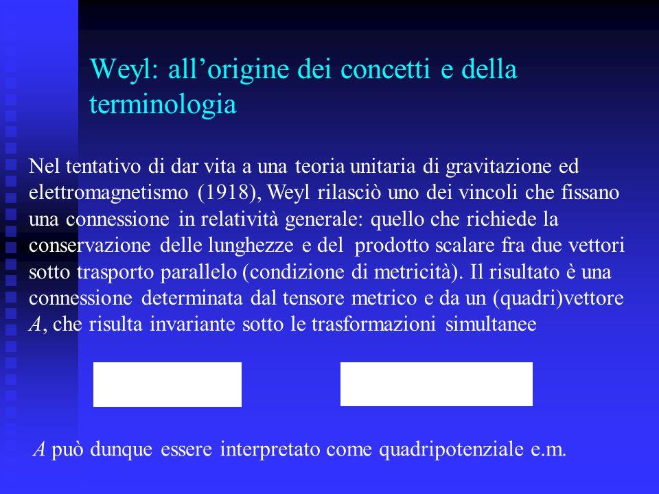 Weyl: all'origine dei concetti e della terminologia