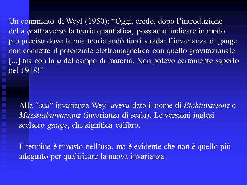 Un commento di Weyl (1950): Oggi, credo, dopo l'introduzione