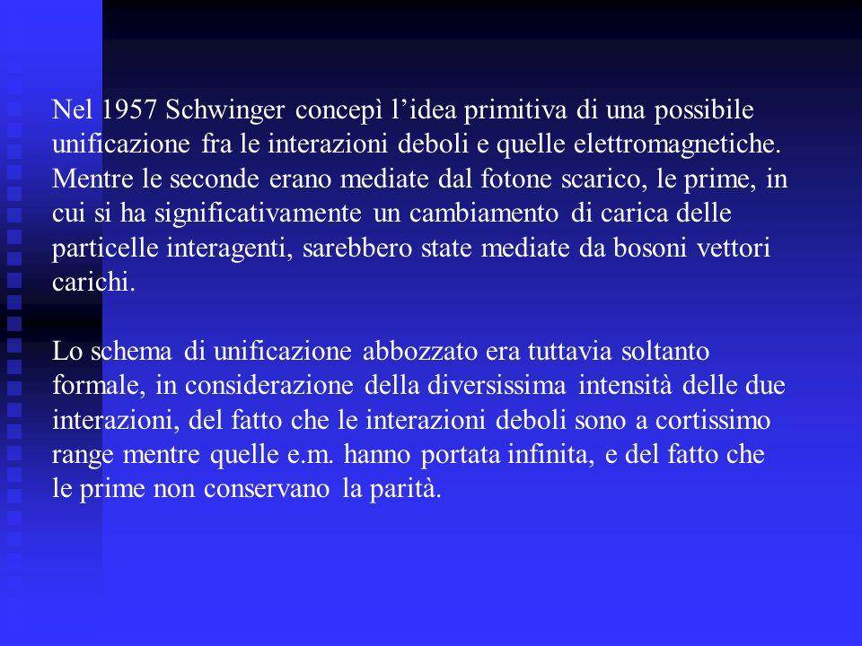 Nel 1957 Schwinger concepì l'idea primitiva di una possibile