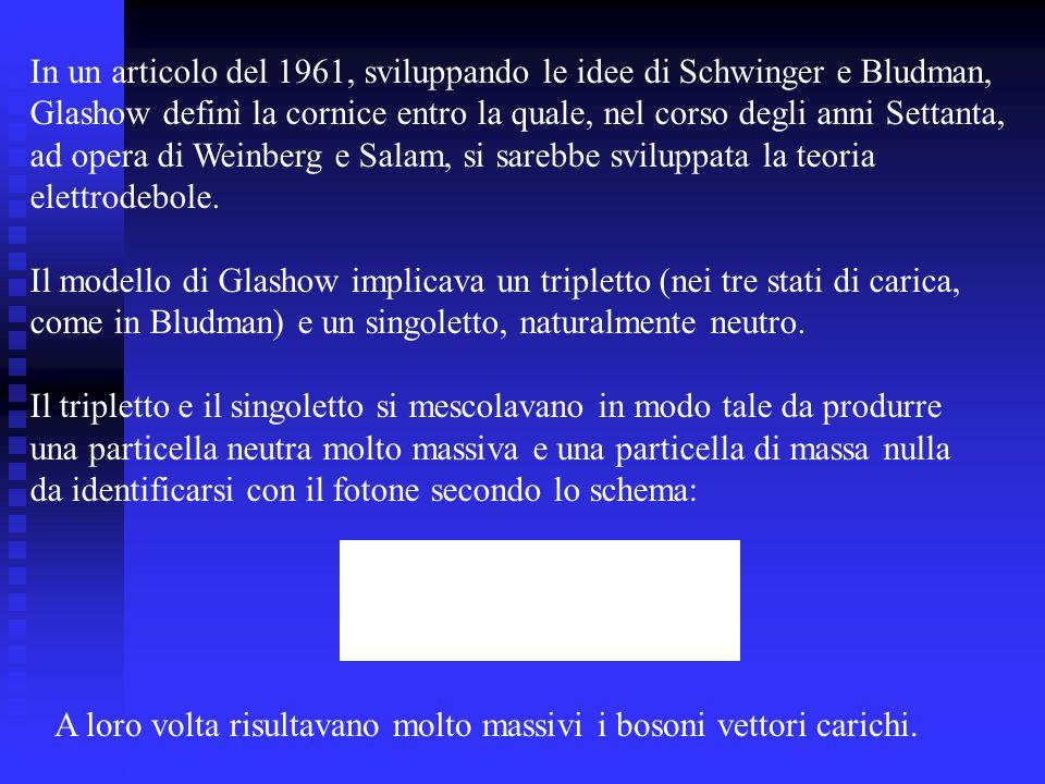 In un articolo del 1961, sviluppando le idee di Schwinger e Bludman,