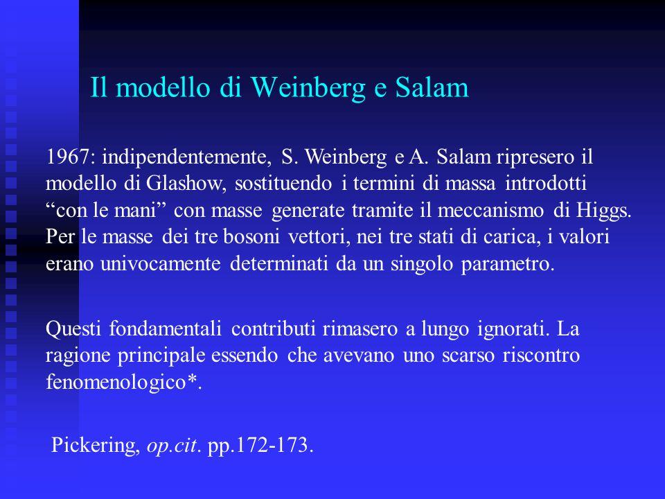 Il modello di Weinberg e Salam