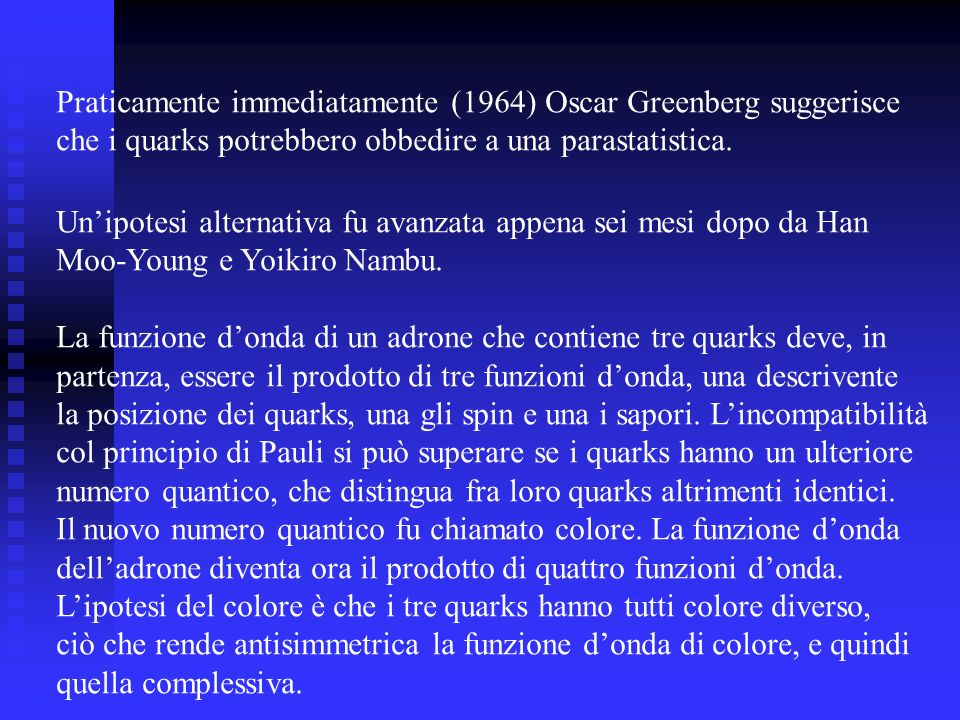 Praticamente immediatamente (1964) Oscar Greenberg suggerisce