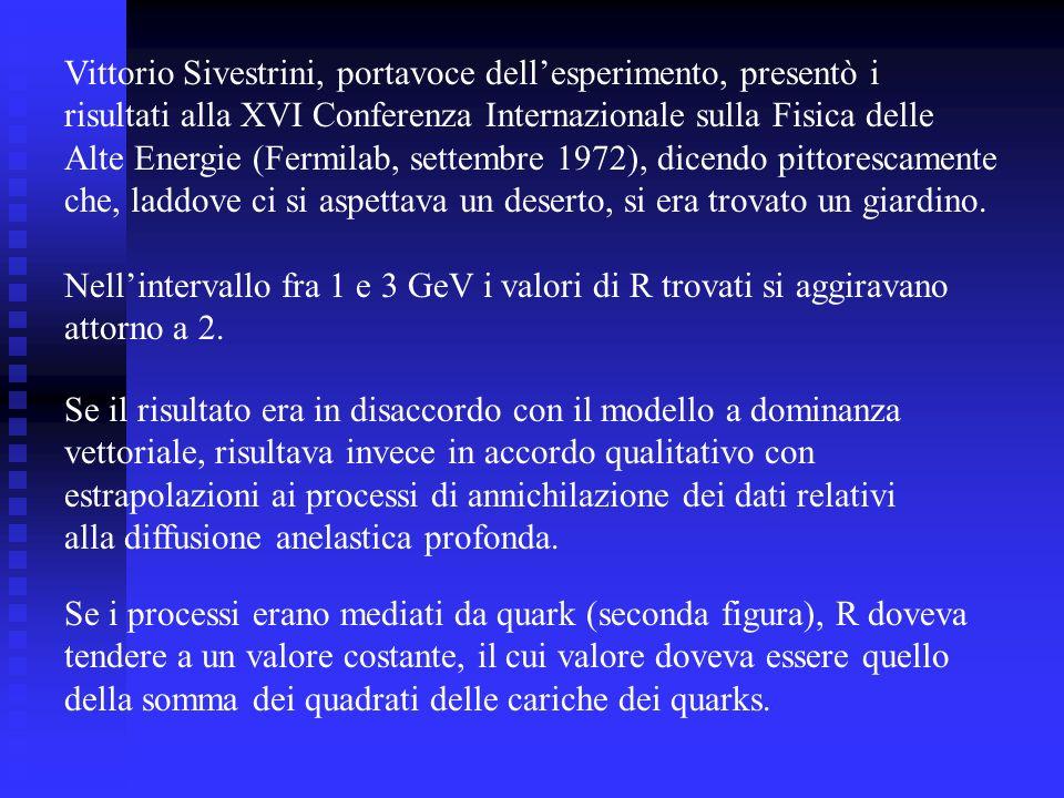 Vittorio Sivestrini, portavoce dell'esperimento, presentò i