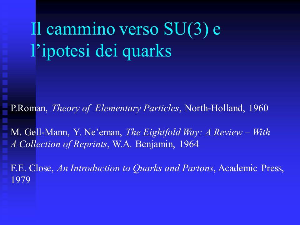 Il cammino verso SU(3) e l'ipotesi dei quarks