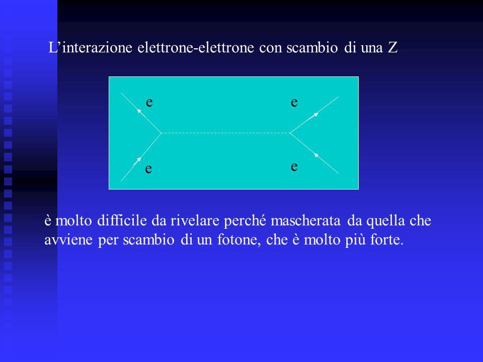L'interazione elettrone-elettrone con scambio di una Z
