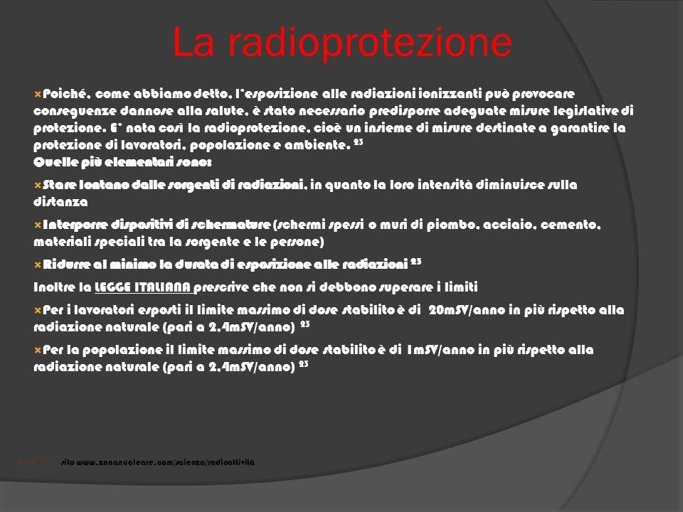 La radioprotezione