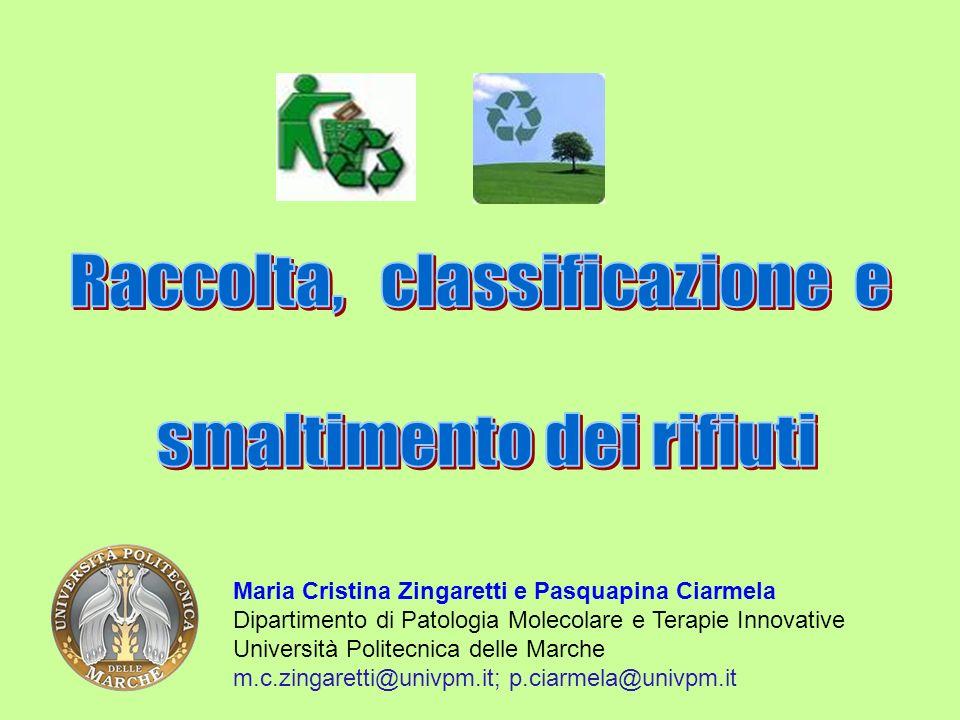 Raccolta, classificazione e smaltimento dei rifiuti