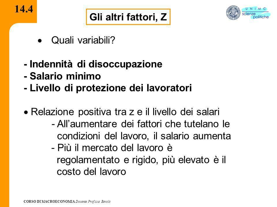 14.4 Gli altri fattori, Z · Quali variabili