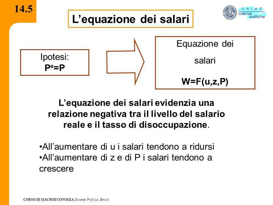 L'equazione dei salari
