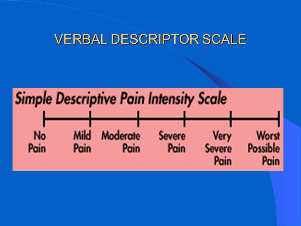 VERBAL DESCRIPTOR SCALE